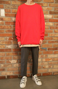 Red Washed Waffle T-Shirts<br>���� ���� Ƽ����<br>�ش� �ú���,������ �ڵ�