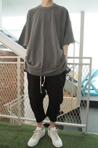 Grey Crew Neck Over T-shirts<br>�׷��� �÷�, ũ���<br>�ڽ��� �Ͱ��� ���� Ƽ����