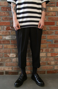 Black Banding Slacks Pants<br>7�� �? ��� ������<br>�ش� �Ͼ�,����� ��밨