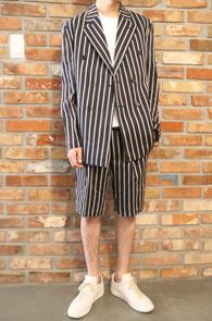 Stripe Half Setup Suit<br>��Ʈ������ ����,���� ����<br>��Ÿ�ϸ����� ������ ��Ʈ