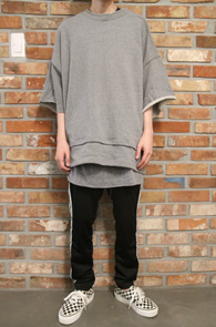 Gray Layered Cutting T-Shirts & Pants<br>�׷����÷�, ���� ������<br>���̾�� �������� �����̴� ��Ʈ