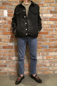 Black Washing Denim Jacket<br>�?�÷�, �����ѿ���<br>�������� �������� ��������