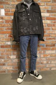 Overfit Black Denim Jacket<br>������ ���� ����<br>�� ������ ���� ���尨