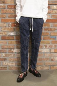 Blue Cutting Banding Denim Pants<br>����÷��� �ش� ���� ������<br>���������� ���� ����