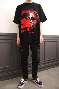 Metallica Mix T-Shirts Type 2<br>두가지 프린팅이 믹스된 디자인<br>빈티지한 느낌의 메탈리카 티셔츠